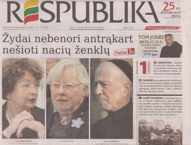 Respublika Jan 2014 interviews with Faina Kukliansky and Moishe Beirak