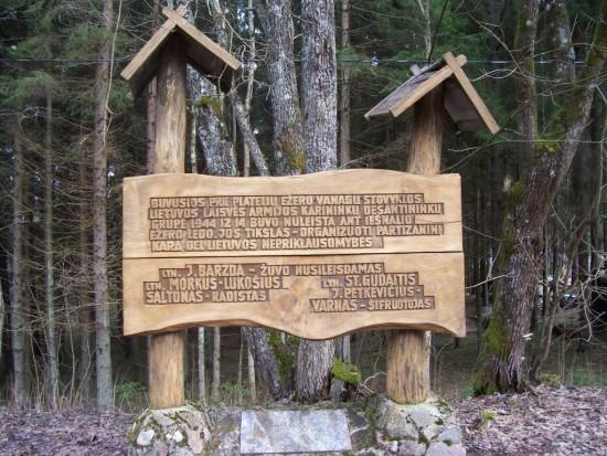 Barzda Memorial in forest 2015
