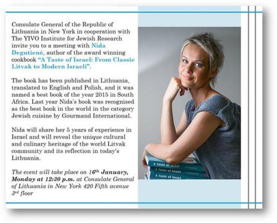 Nida Degutiene's Litvak-Israeli Cookbook Featured at NY's