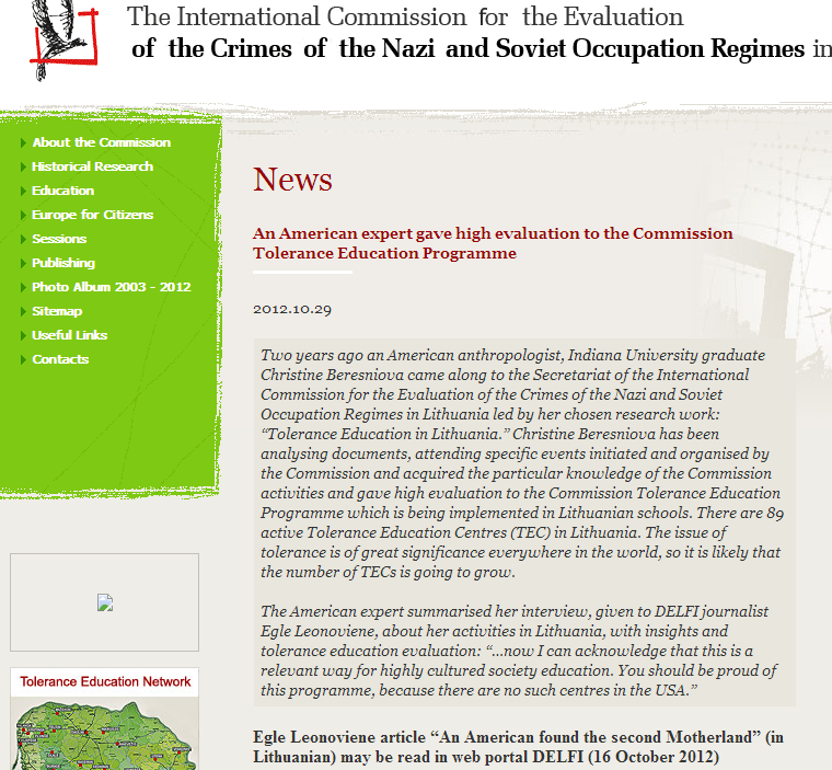 Christine Beresniova on the Red-Brown Commission (Oct 2012)