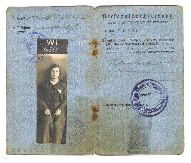 WW1 Yiddish passport