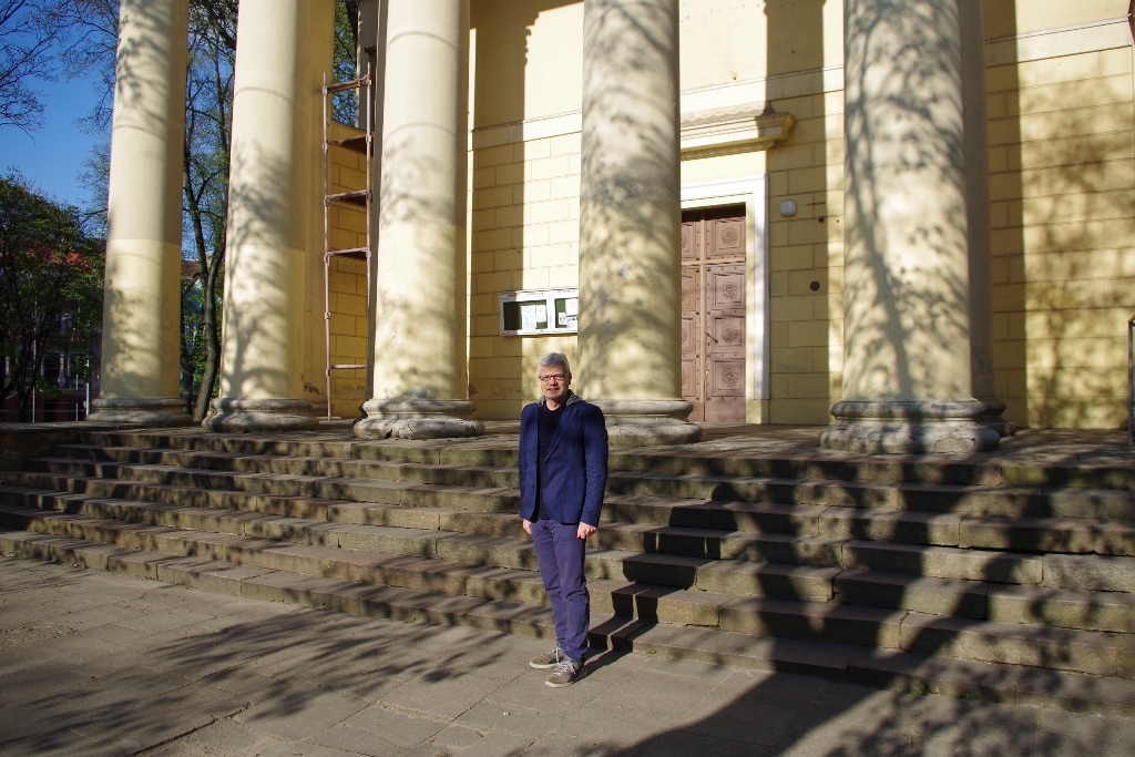 Julius at church