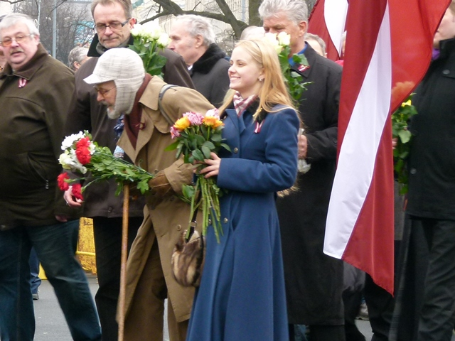 Latvians honoring SS volunteers, March 16, 2012