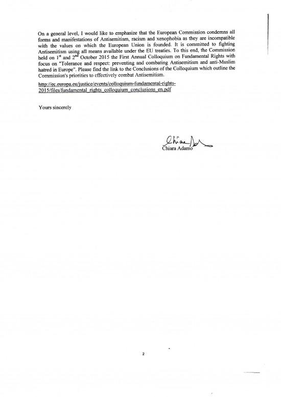 European Commission to Gareth Thomas 13 April 2016 2 of 2