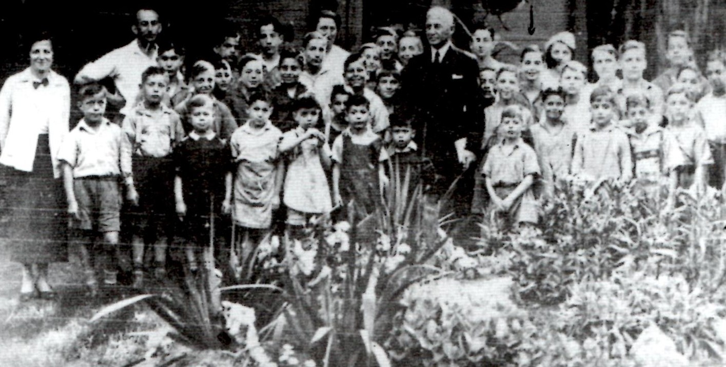 Ernest and Paul Loewenberg in the orphanage